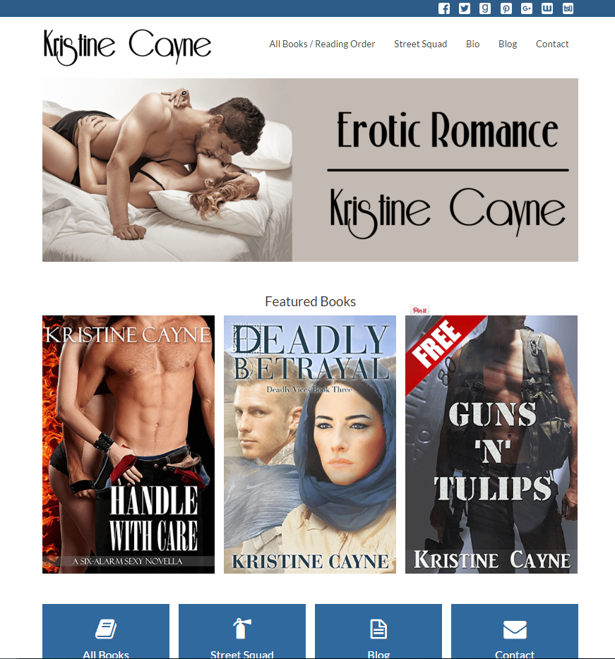 Kristine Cayne's New Website