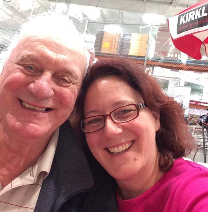 Kristine Cayne and her father - Grateful