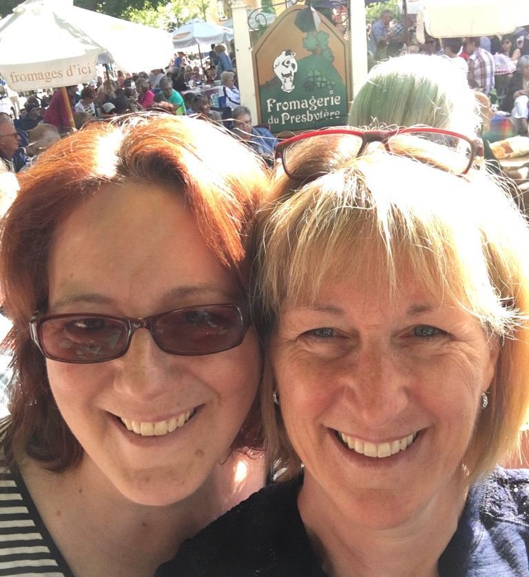 Kristine Cayne and her sister - Grateful